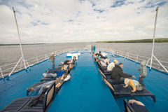 Onboard of river cruise ship Stock Photography