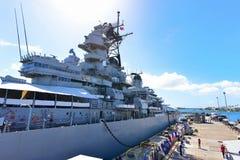Onboard USS Missouri, a historic world war 2 battleship Royalty Free Stock Photography
