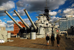 Onboard the USS Wisconsin, Norfolf, Virginia Royalty Free Stock Image