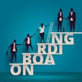 Onboarding begrepp för affär Timme-chef som hyr anställd eller arbetare för jobb Rekrytera personalen eller personaler i företag  vektor illustrationer