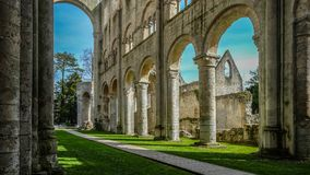 Monastery Abbaye de Jumièges / Jumièges Abbey in Normandy, France. Once considered one of the most beautiful monasteries in Europe, the Abbaye de Royalty Free Stock Images