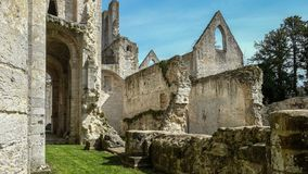 Monastery Abbaye de Jumièges / Jumièges Abbey in Normandy, France. Once considered one of the most beautiful monasteries in Europe, the Abbaye de Royalty Free Stock Photography