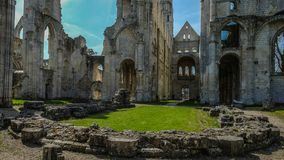 Monastery Abbaye de Jumièges / Jumièges Abbey in Normandy, France. Once considered one of the most beautiful monasteries in Europe, the Abbaye de Stock Images