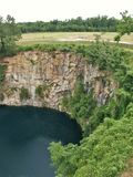 Quarry Park in Winston-Salem. Once an old granite quarry, the mostly wooded 200 acres was acquired by the city and in 2017 opened as Forsyth County`s newest park stock image