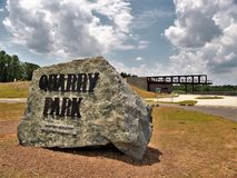 Quarry Park in Winston-Salem. Once an old granite quarry, the mostly wooded 200 acres was acquired by the city and in 2017 opened as Forsyth County`s newest park stock images