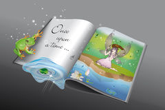 Once upon a time 2 royalty free illustration