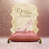 Once upon a Time Enchanted Glass Slipper Stock Image