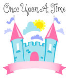 Once Upon a Time Fairytale Castle/eps vector illustration
