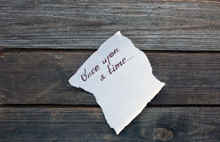 Once upon a time hand written Royalty Free Stock Photos