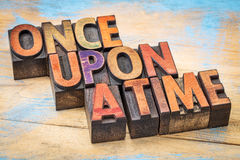 Once upon a time opening phrase Stock Images