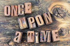 Once upon a time story letterpress Stock Image