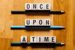 Once upon a time word concept stock photography