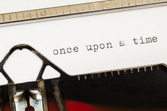 Once upon a time written on old typewriter. Royalty Free Stock Images