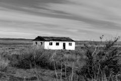 House. Abandoned New Mexico House in the middle of nowhere& x27;s nowhere....way out there royalty free stock photo