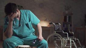 Oncept de ¡ de Ð l'idée de la mort médicale d'erreur d'un patient banque de vidéos