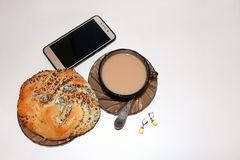 Oncept de ¡ de Ð de pause-café femelle d'affaires photos stock