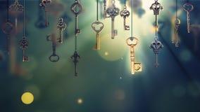 onceptual beeld met het hangen van sleutels stock illustratie