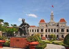 Oncle Ho, construction du Comité des peuples, Vietnam Images libres de droits