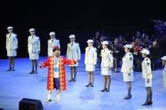 Oncle-theFamous et classicconcert de Karim de chanteur du Xinjiang Photo stock
