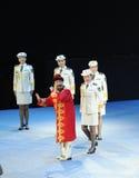 Oncle-theFamous et classicconcert de Karim de chanteur du Xinjiang Images stock