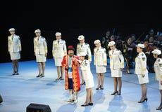 Oncle-theFamous et classicconcert de Karim de chanteur du Xinjiang Photo libre de droits