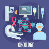 Oncology medicine flat icon for healthcare design Royalty Free Stock Images