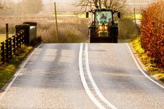 Free Oncoming Road Tractor Stock Photography - 169770462