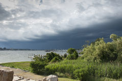 Oncoming storm Stock Images