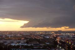 Oncoming thunderstorm stock image