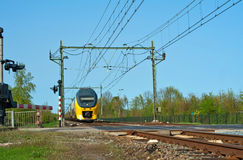 Oncoming train, Holland Royalty Free Stock Image