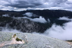 Oncoming windstorm. An oncoming windstorm in the norway mountains Stock Images