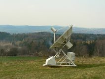 Ondřejov. The view of the radiolocation unit in the areal of astronomical observatory Royalty Free Stock Photography