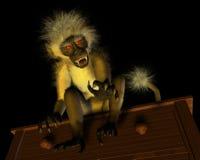 ond apa för demon Arkivbild