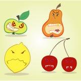 Ond farlig fruktmördare som mycket är skadlig och vektor illustrationer