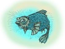 ond fisk Tjock ilsken fisk Royaltyfria Bilder