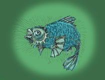 ond fisk Tjock ilsken fisk Royaltyfri Fotografi