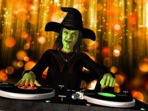 Ond häxa DJ royaltyfri illustrationer