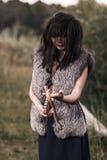 Ond häxakvinna Arkivfoto
