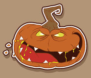 ond halloween pumpa Arkivfoto