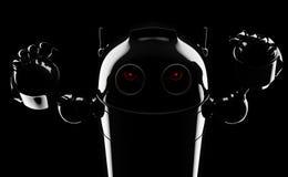 Ond ilsken robot stock illustrationer