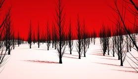 Ond skog Fotografering för Bildbyråer
