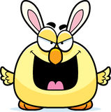 Ond tecknad filmpåsk Bunny Chick Royaltyfria Foton