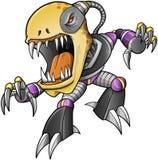 Ond ZombieUndeadCyborg Arkivbild