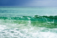 Onda. Blue sea with wave motion Royalty Free Stock Photo