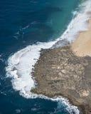Onda aérea en la playa Fotos de archivo