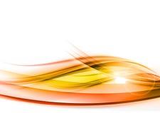 Onda abstracta anaranjada Fotografía de archivo libre de regalías