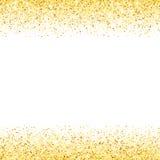 Onda abstracta de la estrella del brillo del polvo de oro del vector Imagen de archivo