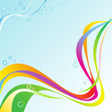 Onda abstracta del arco iris Fotos de archivo libres de regalías