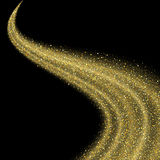 Onda abstrata da estrela do brilho da poeira de ouro do vetor ilustração do vetor