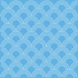Onda abstrata da onda no fundo azul Fotos de Stock